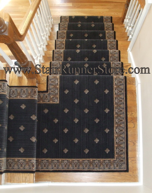 Stair Runner Landing Installations Eclectic Staircase