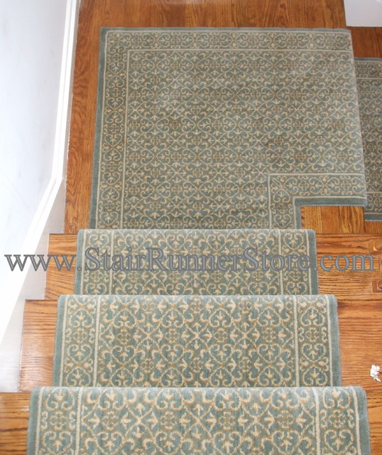Stair Runner Landing Installations Traditional
