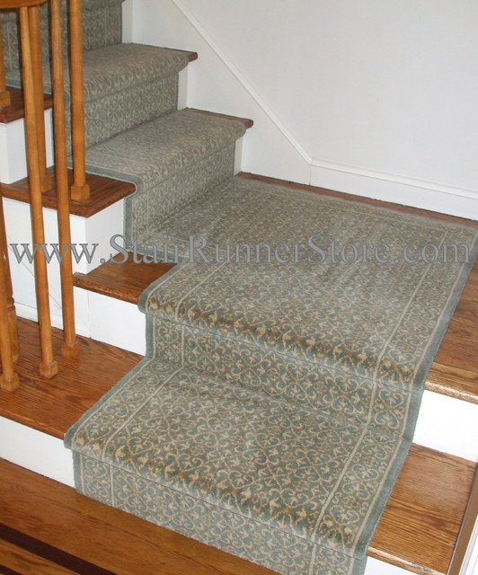 Stair Runner Landing Installations Traditional Staircase New