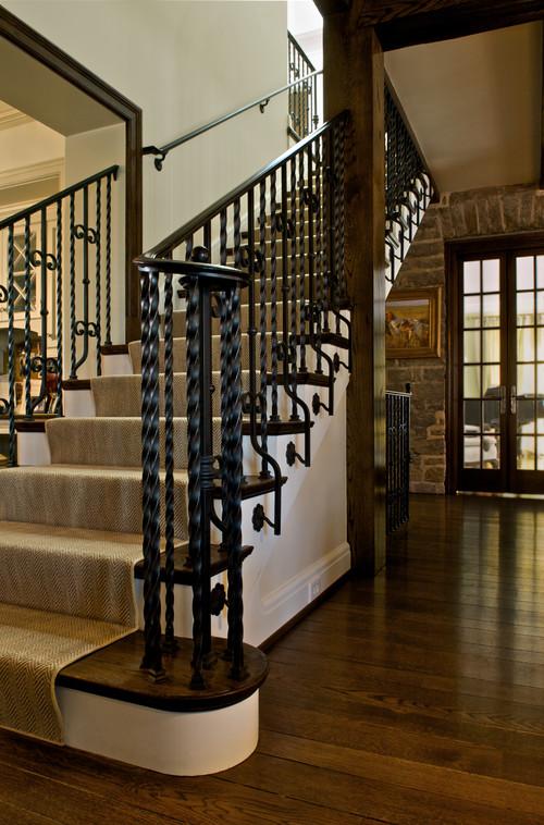 Iron stair railing image