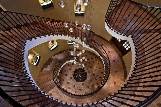Mediterranean Staircase Tower : Stair tower mediterranean staircase cincinnati by