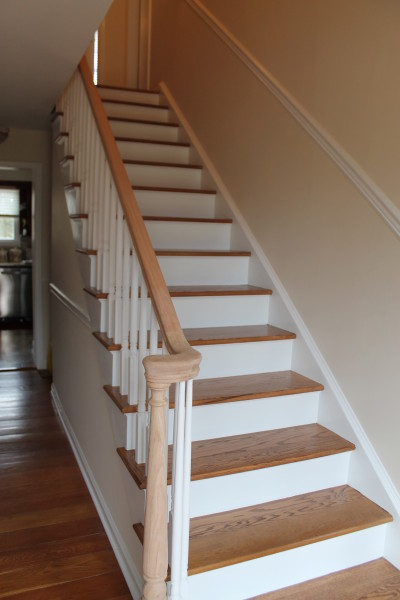Stair Tread Refinishing Traditional Staircase