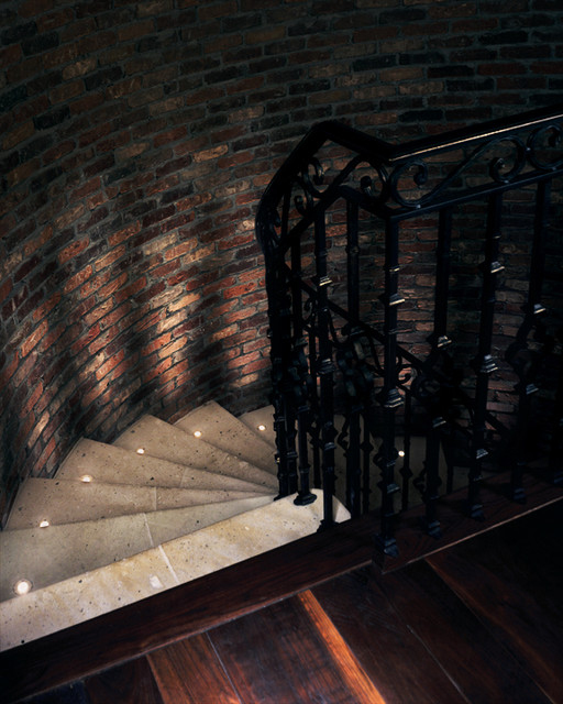 Stair Uplights traditional-staircase