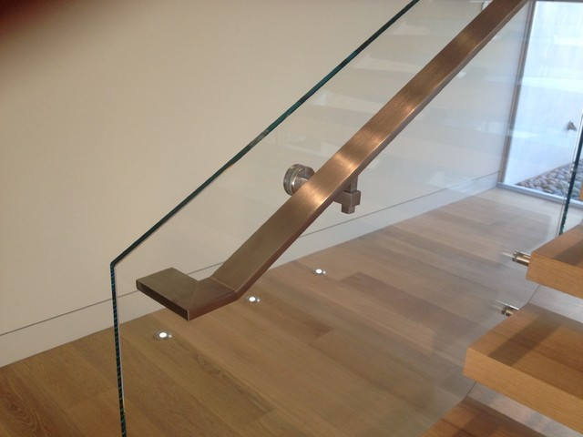 StairArt - Glass and Stainless Steel on Floating Stairs - Contemporary ...