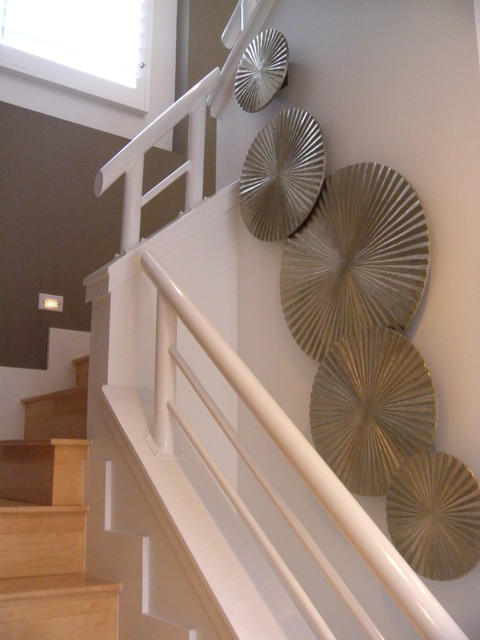 Staircase Wall Decor Modern Staircase Los Angeles By Drichards Interiors