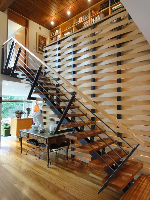 Staircase Handrail Contemporary Entry Vancouver By
