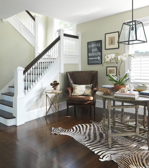 Staircase traditional staircase providence by kate for Foyer paint color decorating ideas