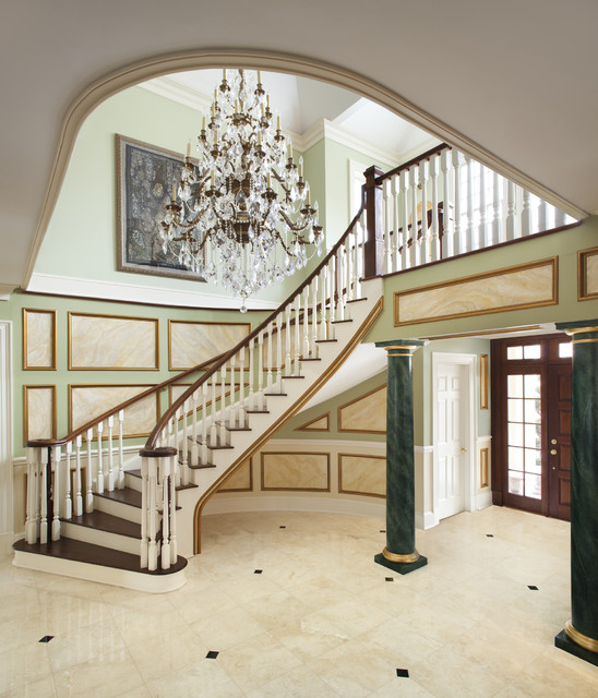 Foyer Staircase Questions : Staircase traditional new york by