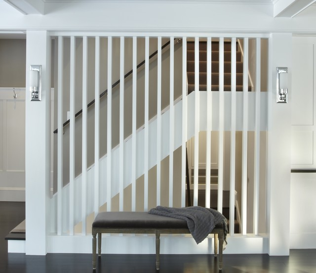 slat ceiling ideas - Staircase Screen Contemporary Staircase minneapolis