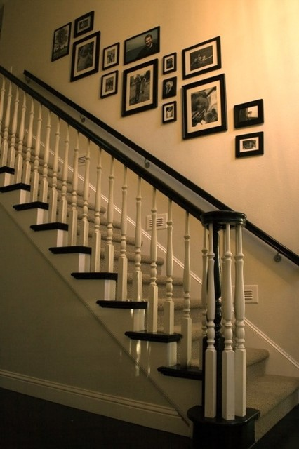 Stairway Wall Decorating Ideas staircase wall decorating ideas - traditional - staircase - other