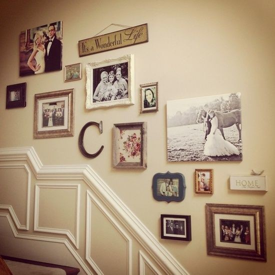 Staircase Wall Decorating Ideas Traditional