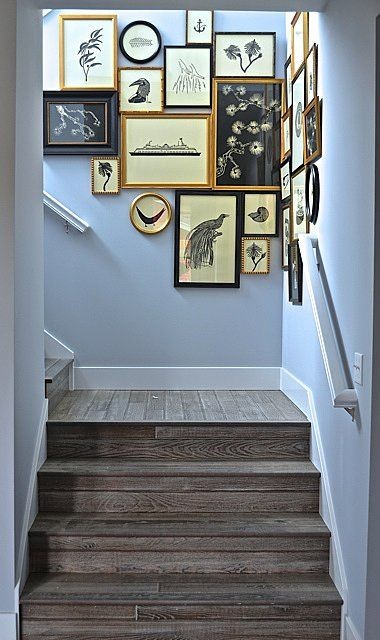 staircase wall decorating ideas traditional staircase other