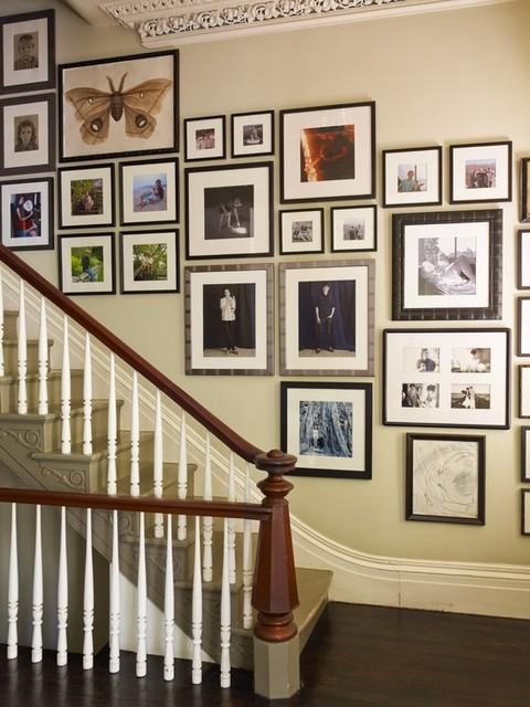 Staircase wall decorating ideas modern staircase other metro by stairs designs - Decorate stairway wall ...