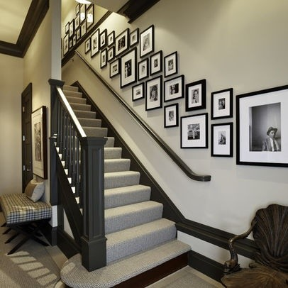 Ordinaire Staircase Wall Decorating Ideas Transitional Staircase