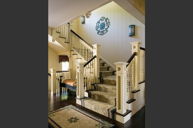 Wall Sconces Staircase : Staircase with Hammerton Chateau wall sconce
