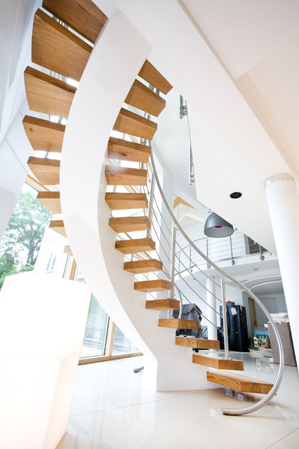 Contemporary Staircase Staircase, York contemporary-staircase