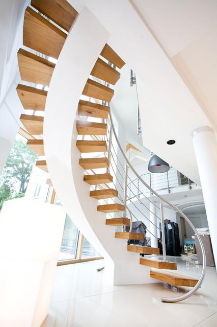 Staircase, York contemporary-staircase