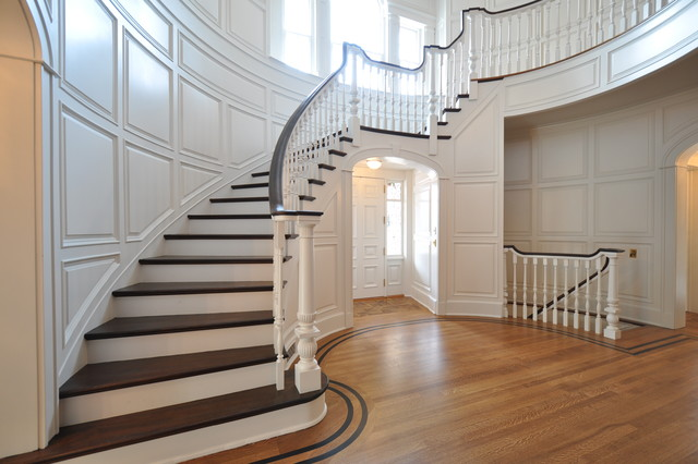 traditional staircase by Anthony James Construction