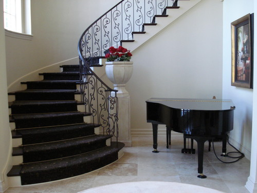 granite arched stairs