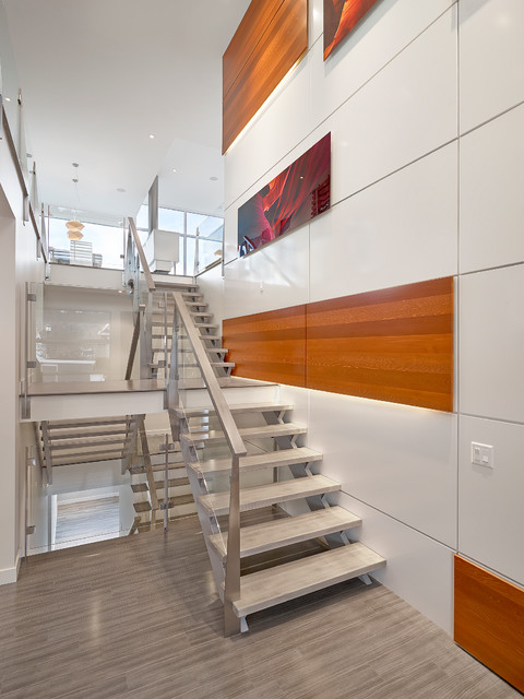 Stairs And Feature Wall