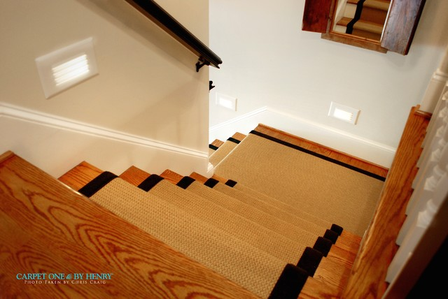 Foyer Staircase Runners : Stairs landing custom foyer rug stair runner