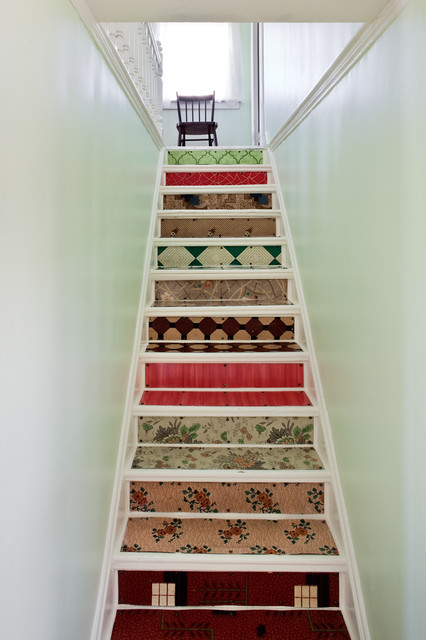 Stairs at the Thomas Mouland House traditional-staircase