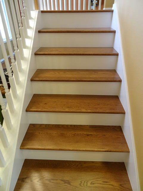 Stairs Carpet To Hardwood Traditional Staircase