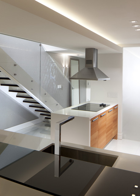 stairs + kitchen island - modern - staircase - miami -rs3 designs