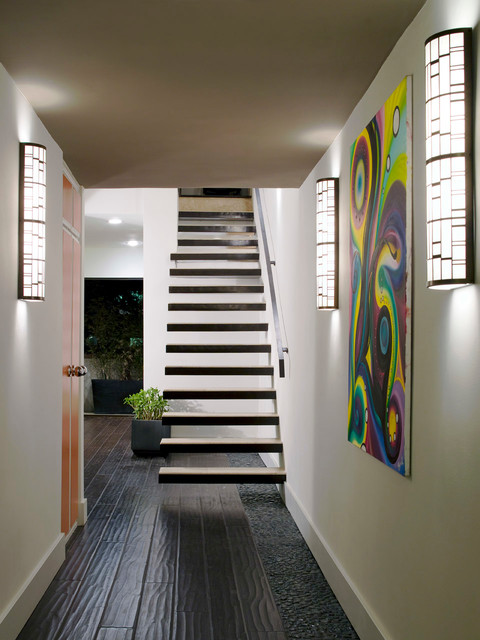 Staircase - contemporary floating open staircase idea in Los Angeles