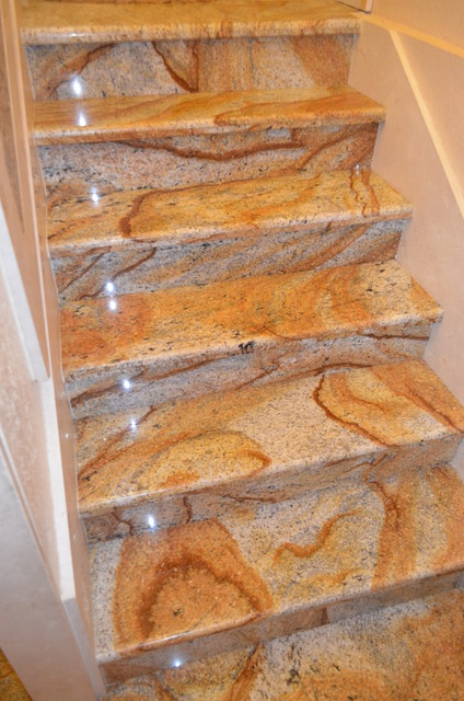 Stairs Marble Granite Mediterranean Staircase Tampa