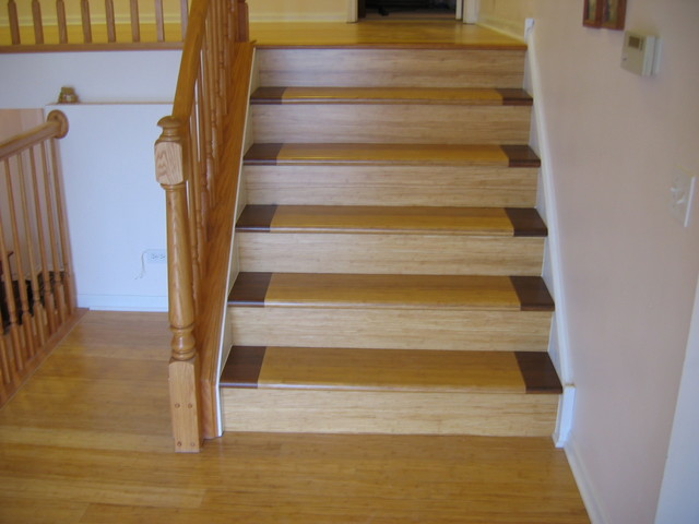 Superb Bamboo Stair Treads Antique Java Fossilized Flooring Look Amazing