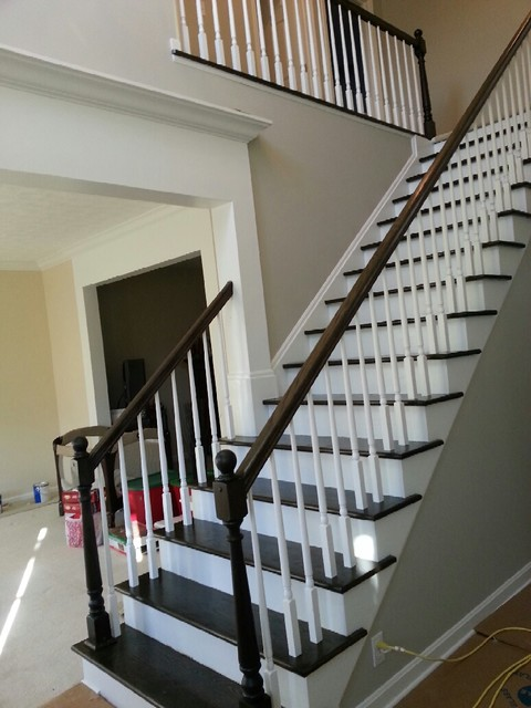 Elegant Stairway Renovation Traditional Staircase