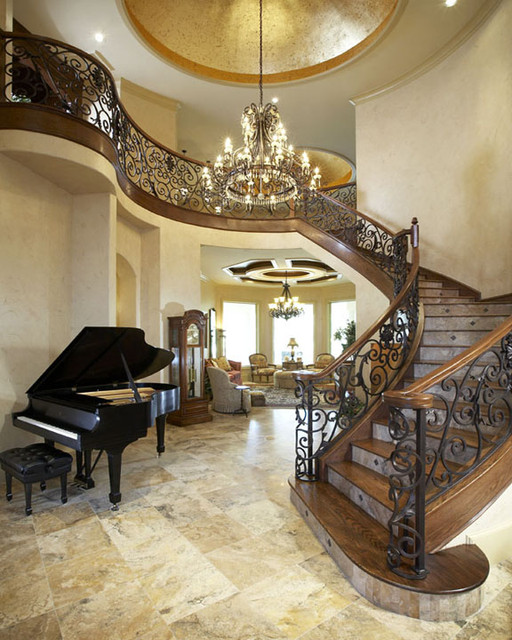 Look At Some Grand Foyers From Houzz Com: Stairways Mediterranean-staircase