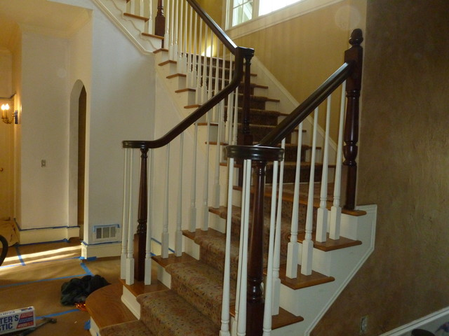 Stairwell Before traditional-staircase