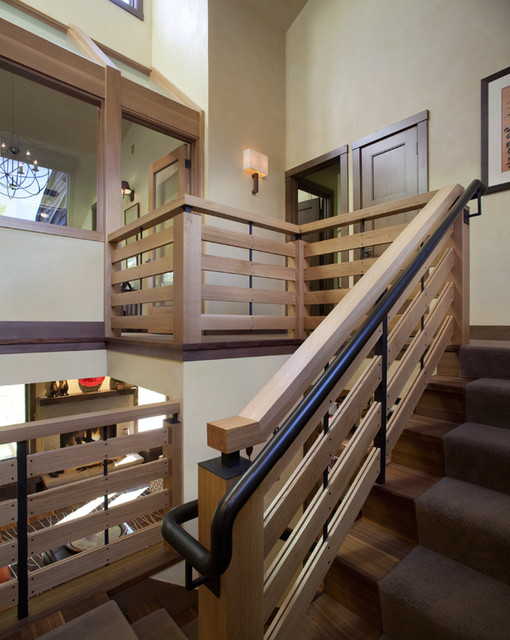 Stairwell Landing View Modern Staircase Denver By