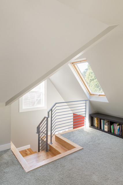 Stairwell Remodel At Attic Level Contemporary Staircase