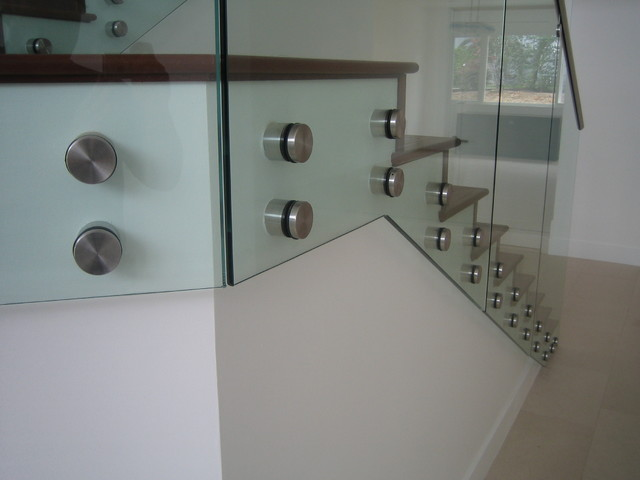 Stand Off Glass Railings 1 Modern Staircase Los