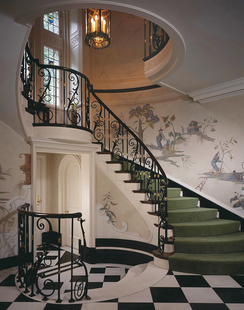 Stately georgian home traditional staircase for Georgian staircase design