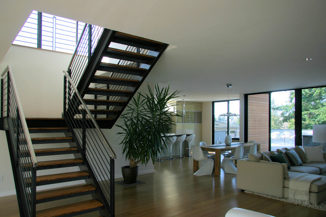 Steel Staircase Modern Staircase Seattle By Alcova