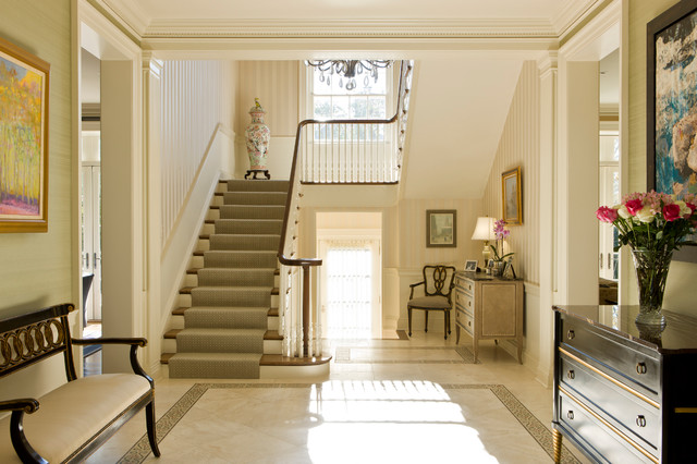 Stone Colonial Transformation traditional-staircase