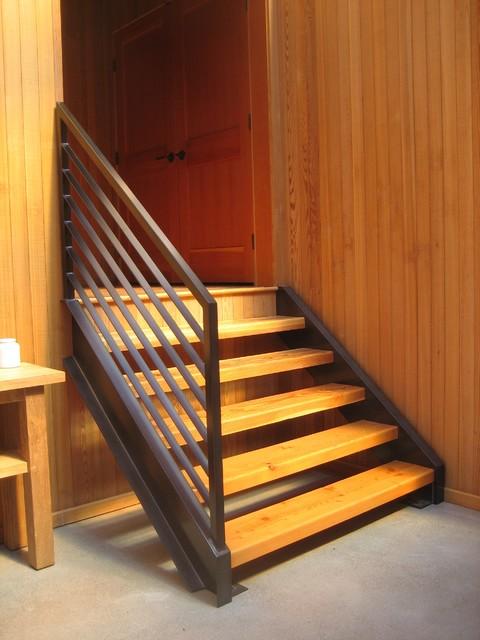 Stone contemporary-staircase