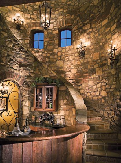 Stone Staircase Mediterranean Staircase St Louis