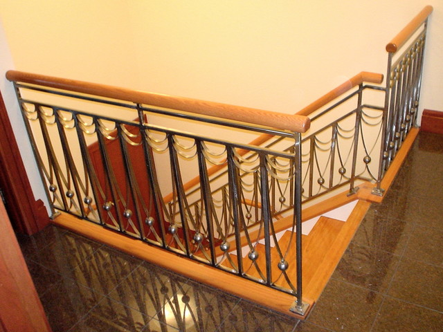 Stone Wood & Steel - Interior Railing traditional-staircase