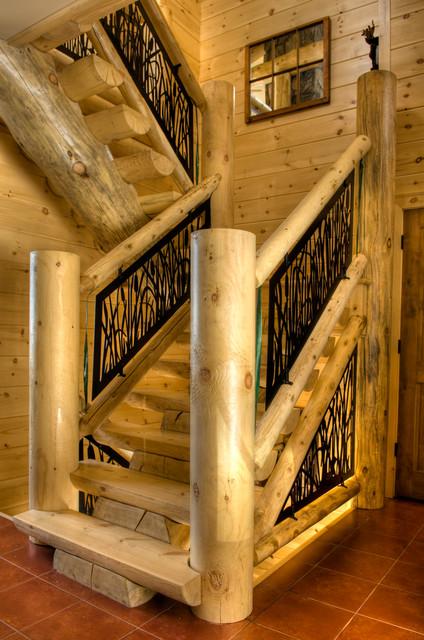 Stoney Lake Cottage Balcony And Stair Rails Farmhouse
