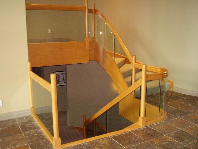 Straight Stair With Glass Panels staircase