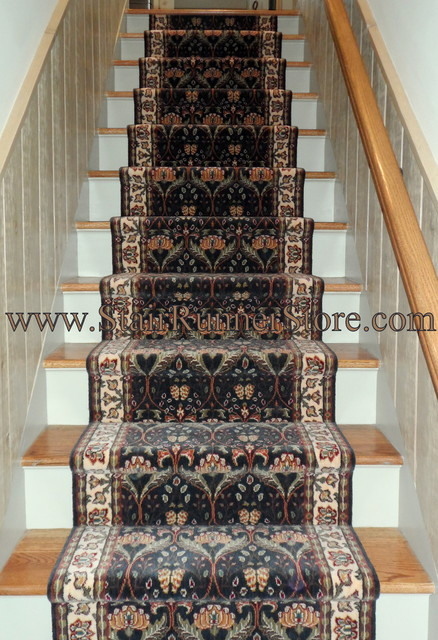 Straight Staircase Stair Runner Installations Eclectic