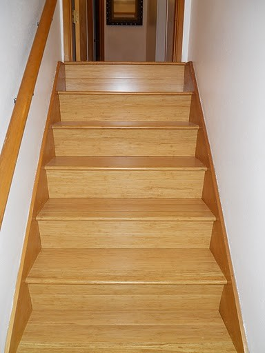 Strand Woven Bamboo - Natural traditional-staircase