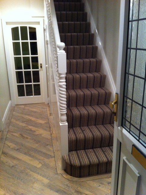 Striped Carpets Contemporary Staircase Manchester