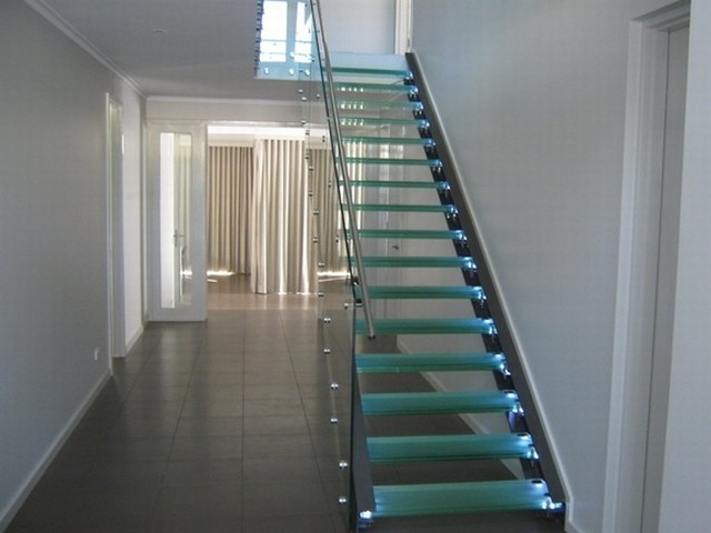 Structural Glass Modern Staircase New York By Atm Mirror And Glass