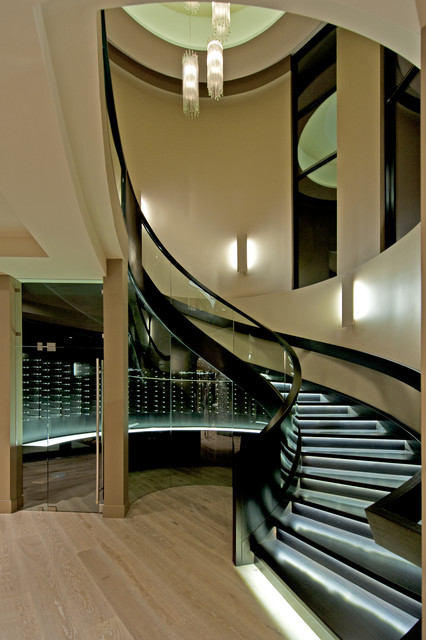 Modern staircase in Vancouver.